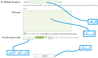 أرسل رسائل نصية قصيرة مجاناً دون التسجيل مع موقع A Free Sms