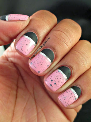 Icing Deliciously Scrumptious, Sinful Colors Whipped, speckled, half-moon, leather luxe, matte, nails, nail art, nail design, mani
