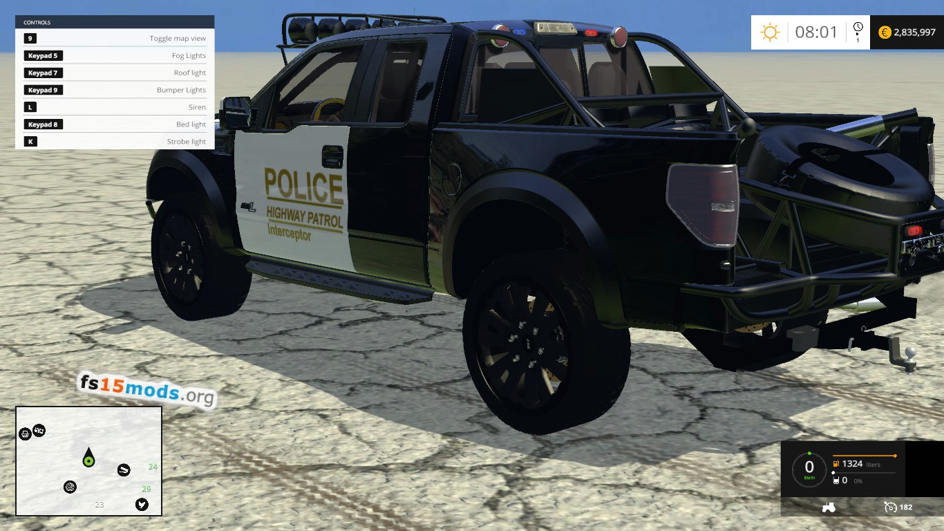 F450 Ford Ford F150 Raptor police Interceptor car | FS15 Mods