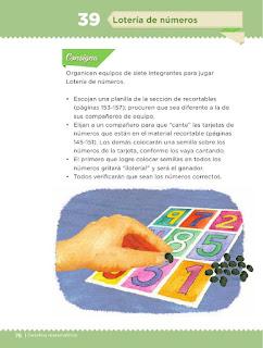 Apoyo Primaria Desafíos Matemáticos 2do Grado Bloque 2 Lección 39 Lotería de números