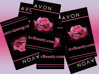 Diaries of an Independent Representative AVON BUSINESS CARD