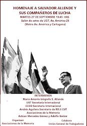 Homenaje a Salvador Allende y sus compañeros de lucha