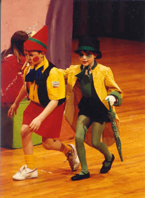 Pinocchio, community theater, Beachwood Community Theater, Jiminy Cricket, favorite theater role, musical theater, 1980's, Jamie Allison Sanders, Give A Little Whistle
