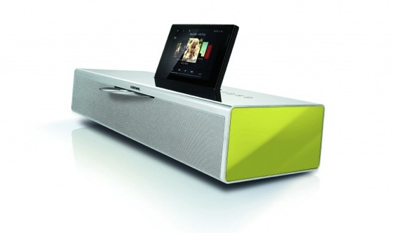 equipo hi fi loewe soundvision iphone world. Black Bedroom Furniture Sets. Home Design Ideas