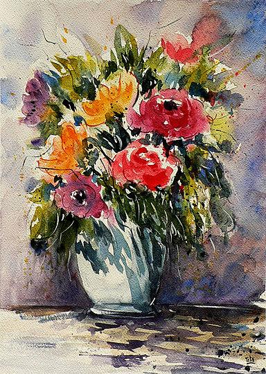 Bluoltremare vasi di fiori vases of flowers for Vasi di fiori dipinti