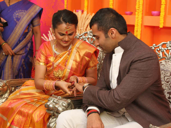 Actor Nandha and Vidyaroopa Marriage Stills