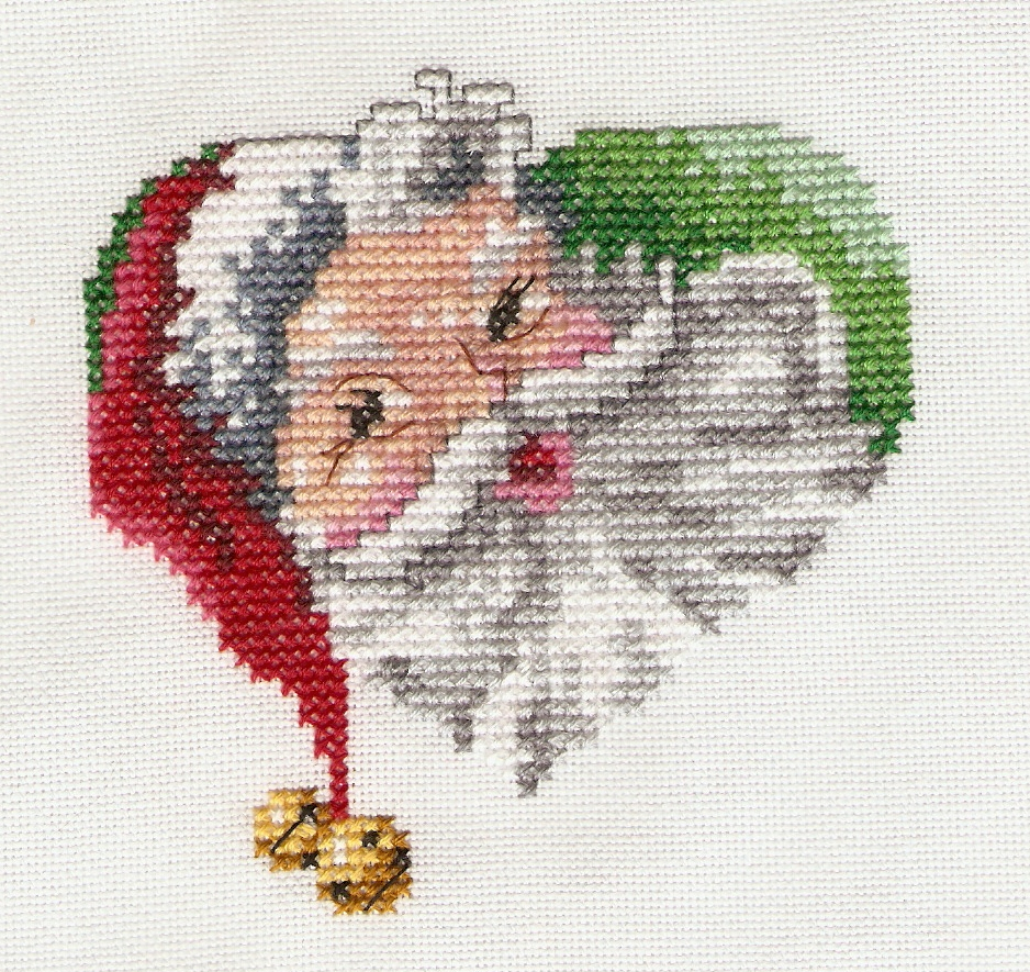Santa face ornaments - I Just Finished Stitching This Santa A Few Minutes Ago I Still Have The Names And Borders To Stitch This Santa Is From Asn Booklet By Sam Hawkins 50