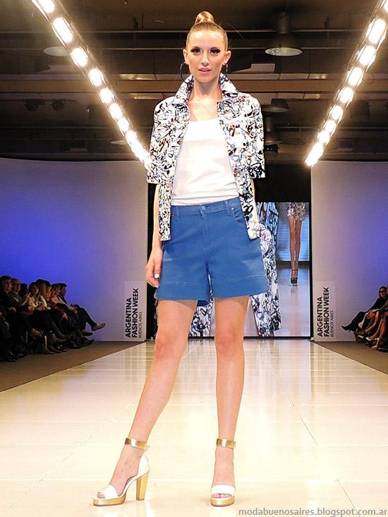 Adriana Costantini primavera verano 2015 blusas y camisas de moda. Argentina Fashion Week primavera verano 2015.