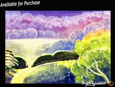 North East artist Ingrid Sylvestre Northeast art for sale Durham artist Ingrid Sylvestre The Wonderful Hedges watercolour wax resist Art for sale UK Paintings for sale