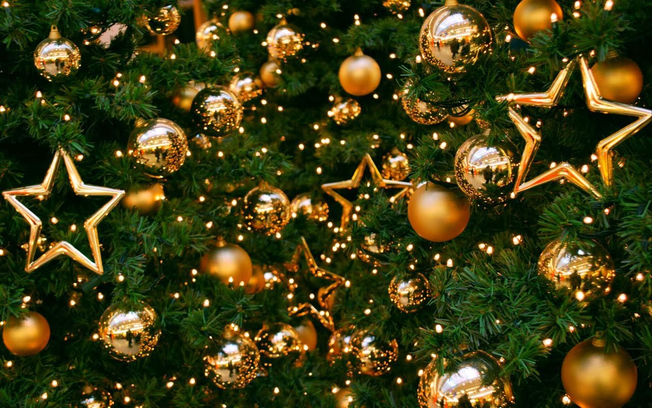 Christmas Tree On Balls And Stars