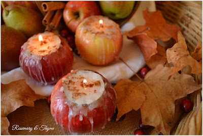 Fresh apple tea lights diy