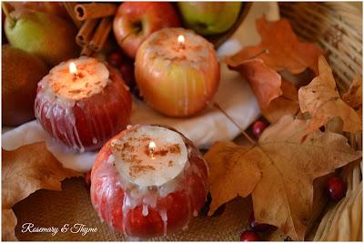 Fresh apple tea lights diy