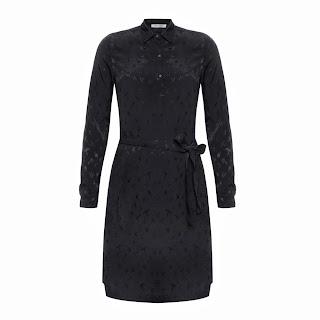 uzun kol gömlek elbise garnili , işlemeli