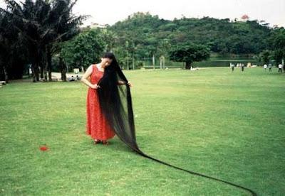 Xie Qiuping el pelo cabello mas largo del mundo