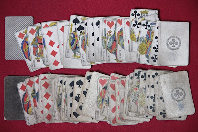19th century antique French playing cards