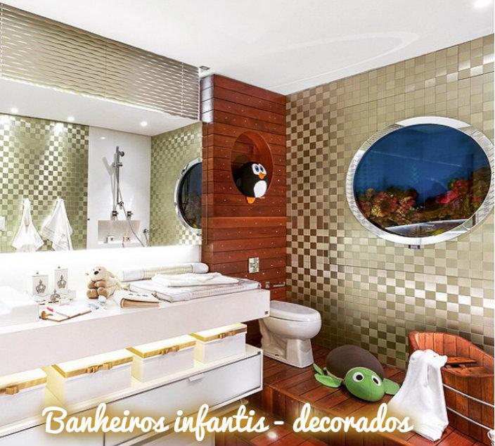 Construindo Minha Casa Clean Banheiros Infantis  Veja ideias para meninas e -> Decorar Banheiro Infantil