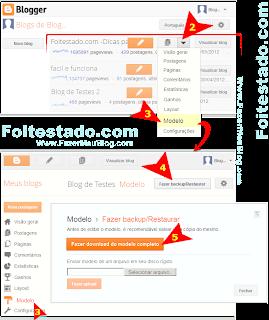 Como fazer um backup de modelo de blog usando blogger com a nova interface atualizada
