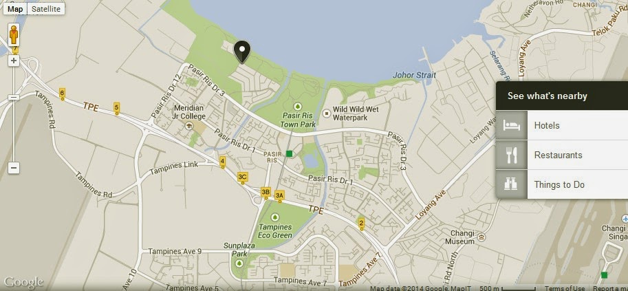 Pasir Ris Park Singapore Location Map Alexandra Meier