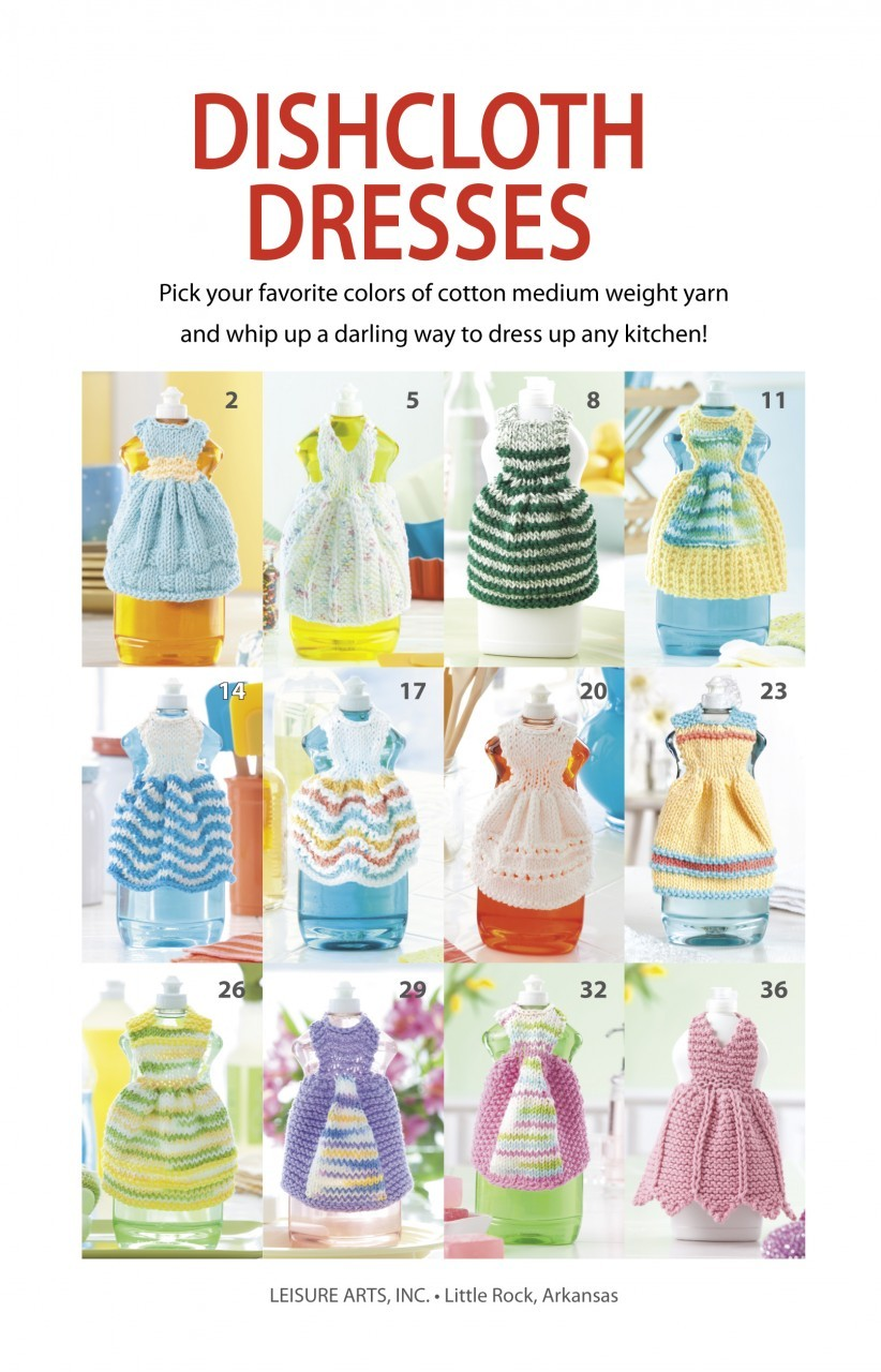Knitting and Sewing My Way Through Life: Dishcloth Dresses Knitting Patterns ...