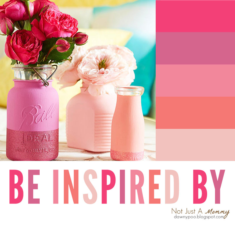 Be party palette inspired with painted Mason jars