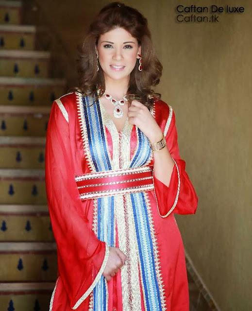 Kaftan robe marocaine de leila hadioui mod les 2014 for Travailleuse couture pas cher