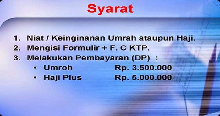 Syarat Haji Umroh Arminareka Perdana