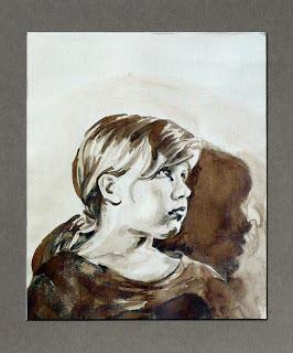 Hrvoje Radovanovic - Ritratto di Mirna, 1969 - Portret Mirne - Mirna's portrait