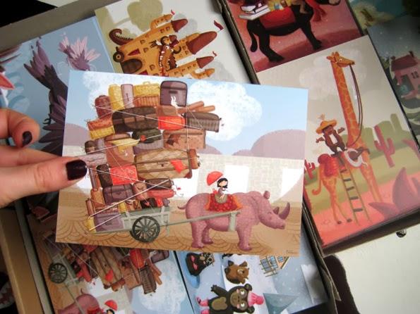 """Cartes postales """"Voyage"""" du Studio Tomso"""