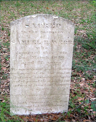 Gravestone of Samuel B. Webb