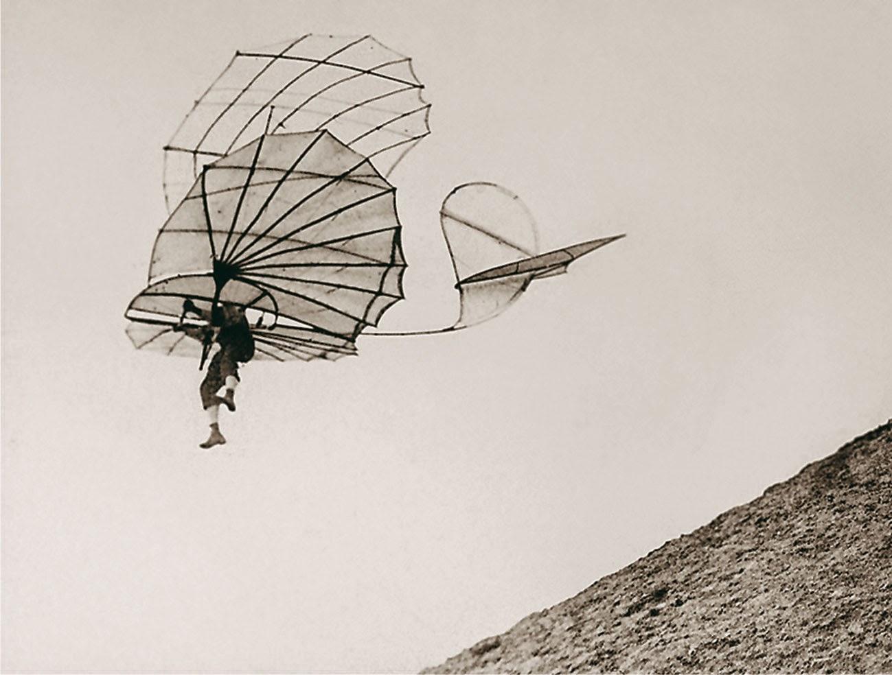 ليلينتال,المحاولات الأولي للطيران الشراعى,الطائرات الشراعية او المحلقات, قصة الطيران,