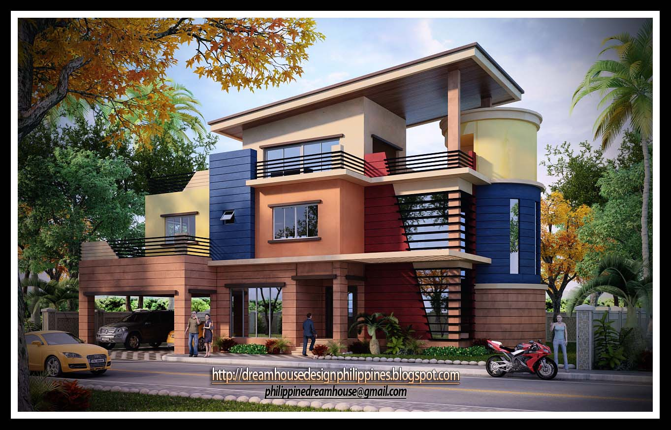 3 story apartment design philippines modern house for Budget home designs philippines
