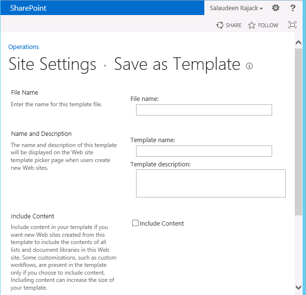 sharepoint 2013 custom site templates