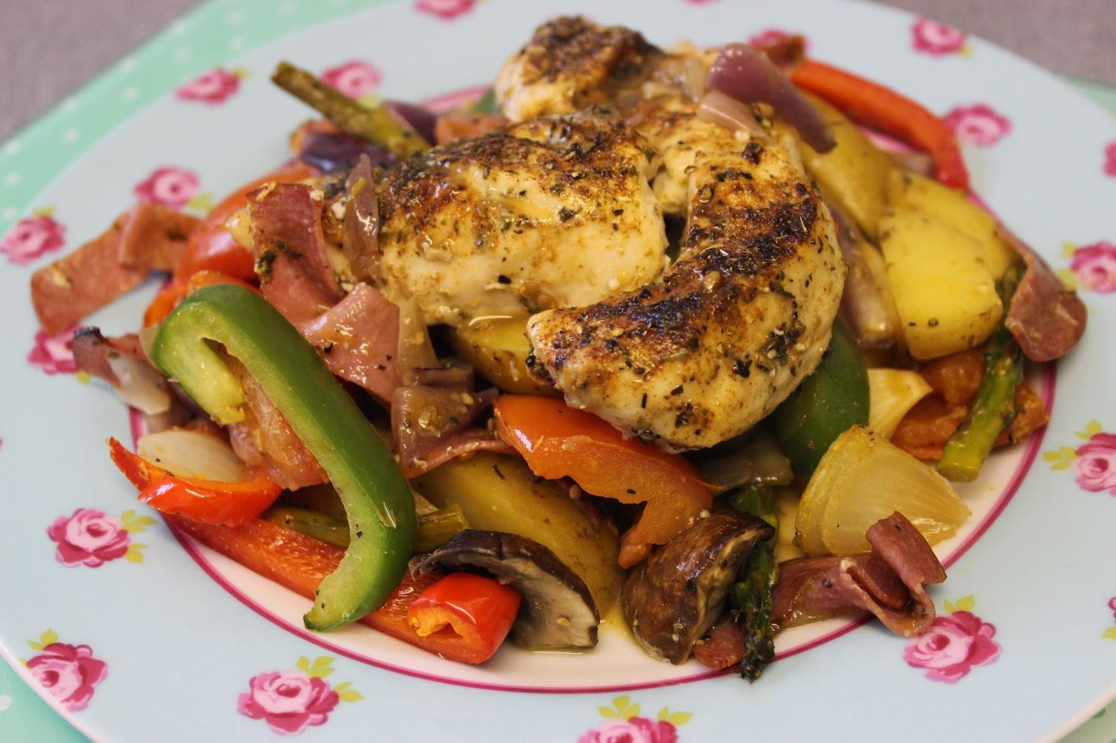 Spanish Baked Chicken Recipe — Dishmaps