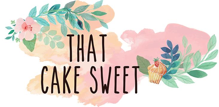 That cake sweet