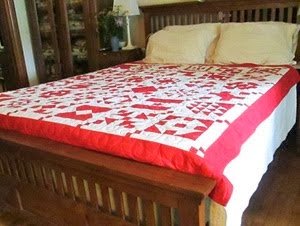 Red & White Quilt Sold for $250