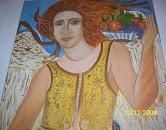 Νότα Κυμοθόη Αρχάγγελος Αφθονίας Ελαιογραφία σε μουσαμά