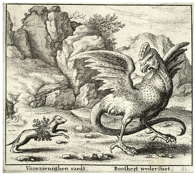 El Basilisco de Renwick 671px-Wenceslas_Hollar_-_The_basilisk_and_the_weasel