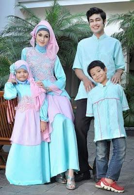 Contoh Model Baju Sarimbit Keluarga Untuk Hari Raya