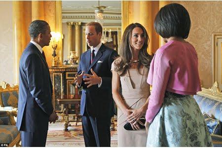 Уилям и Кейт с Барак и Мишел Обама