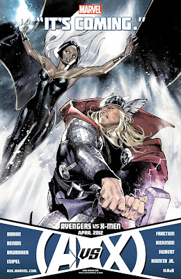 "Avengers vs X-Men ""It's Coming"" Promo Image - Storm vs Thor"