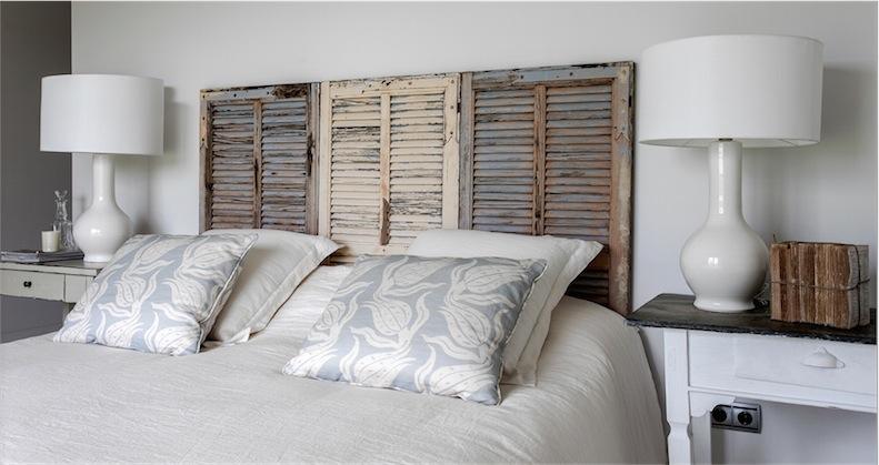 porticones como cabecero de cama