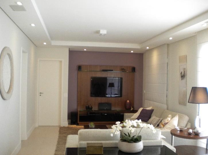 Sala De Jantar Rebaixada Com Gesso ~ Meu Palácio de 64m² Molduras de gesso, ideias para a sala do apê!