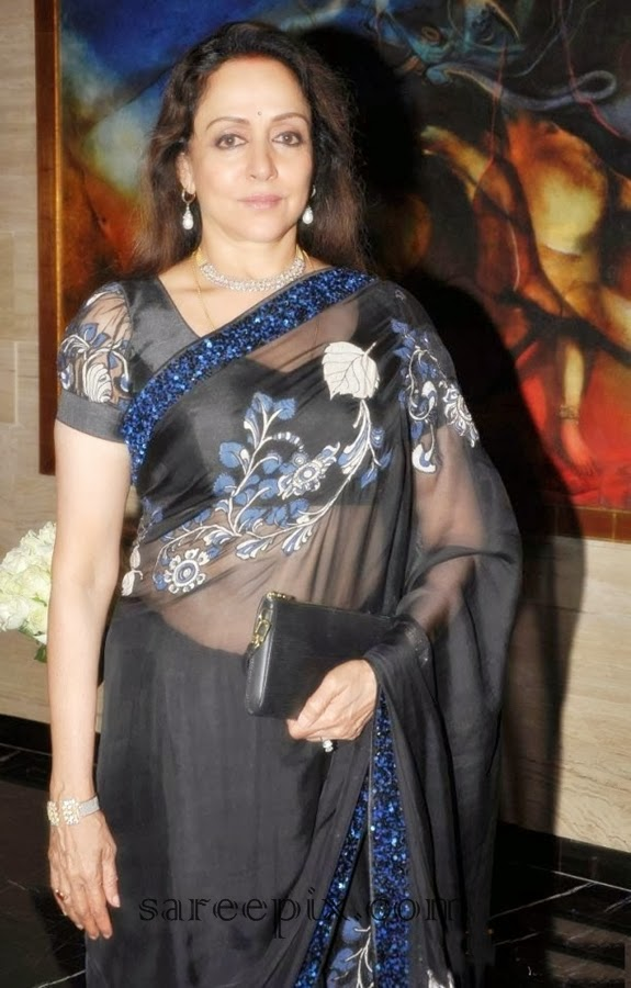 Hema malini in transparent saree