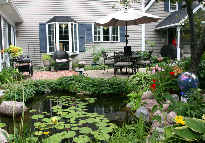Aquascape Your Landscape Outdoor Dining By The Pond