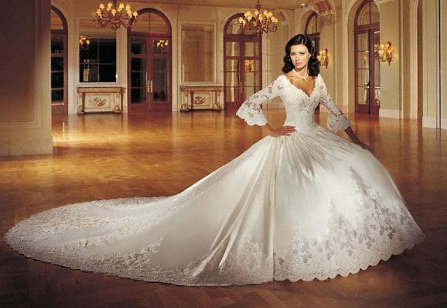 Самые красивые свадебные платья звезд