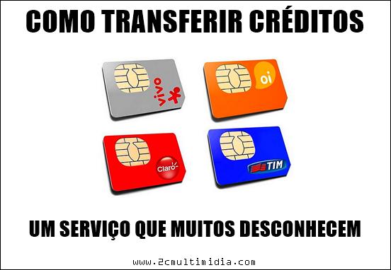 Como transferir crédito de celular