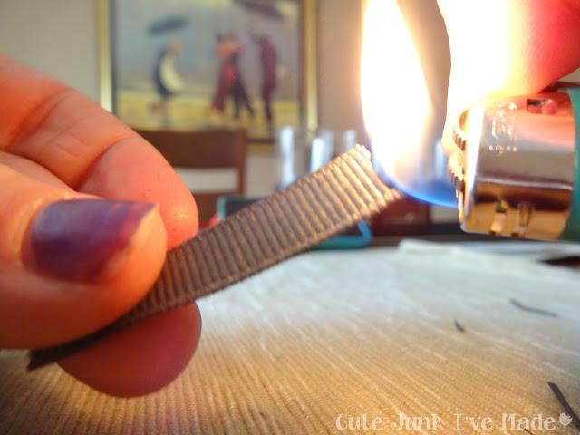 Homemade Wedding Card - burning ribbon