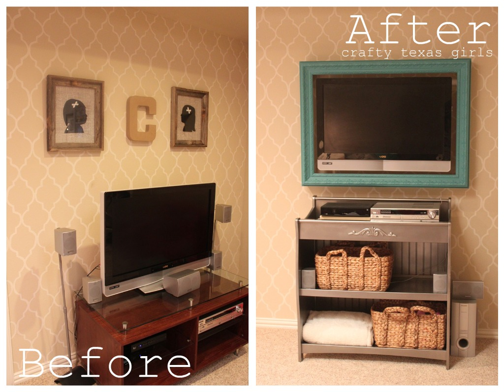 Crafty Texas Girls: Before & After: Playroom to Family Room