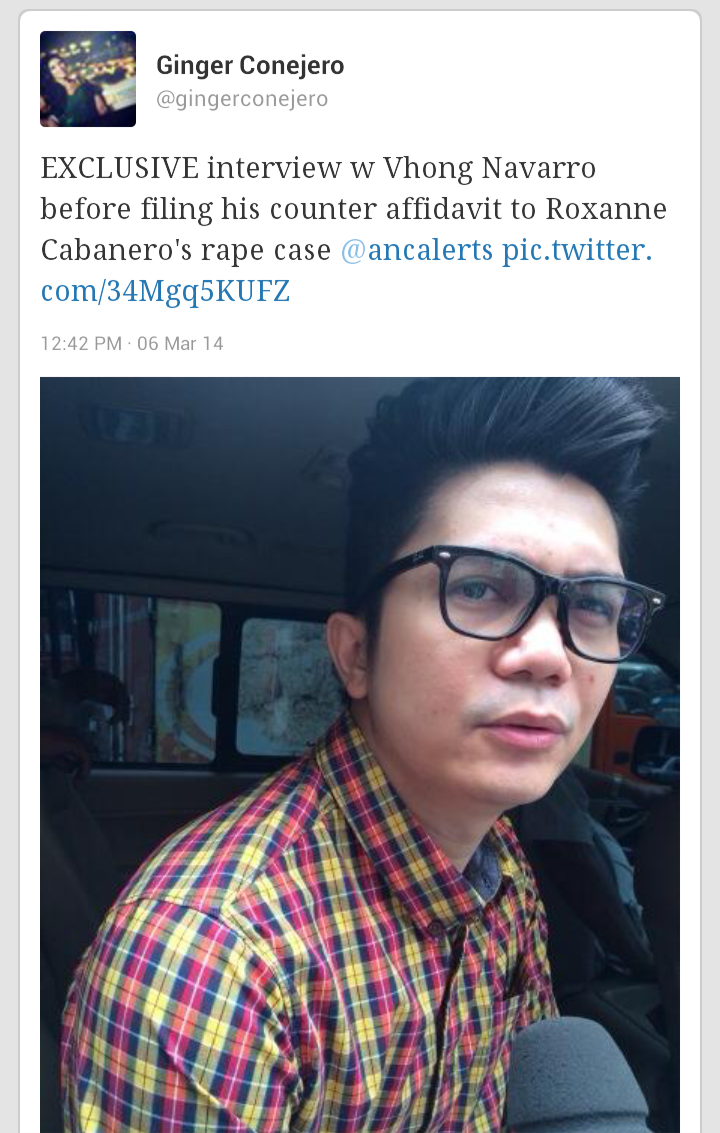Fashion Pulis Tweet Scoop Vhong Navarro Files Counter Affidavit In Relation To Roxanne