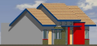 Type 60 model rumah modern